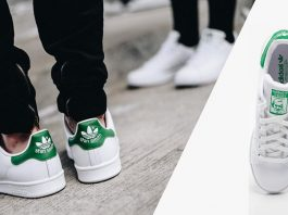 Adidas Stan Smith - les chaussures intemporelles de style sportif sont connues dans le monde entier.